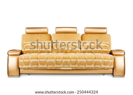 Studio shot of a futuristic sofa on white background - stock photo