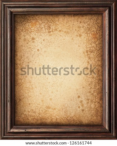 Studio shot of an aged and stained wooden board. Composite image - stock photo