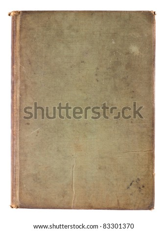 Studio shot of Blank Antique Book Cover on white background - stock photo