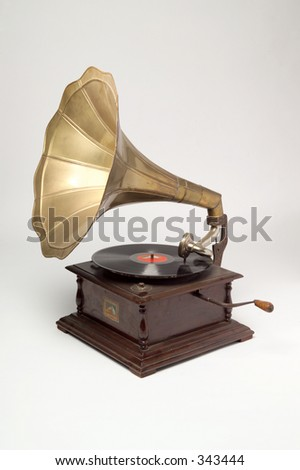 Studio shot of gramophone