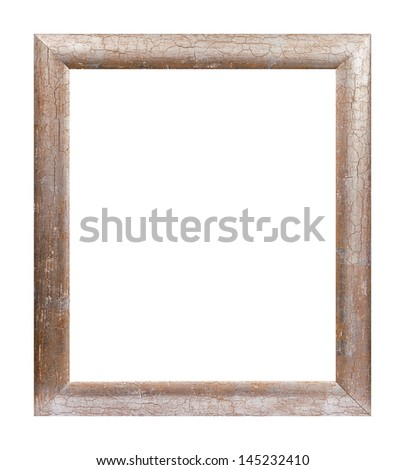 Studio shot of isolated old picture frame. - stock photo