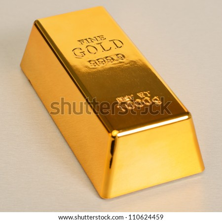 Studio Shot Of 1kg Gold Bar Isolated On��� Texture