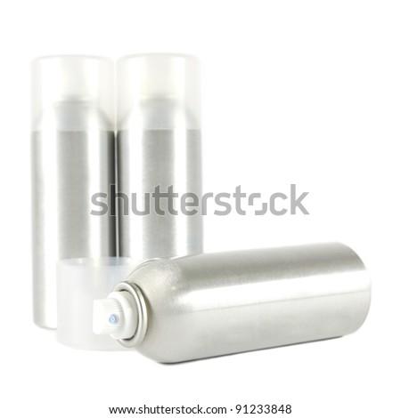 Studio shot of spray can on white background - stock photo
