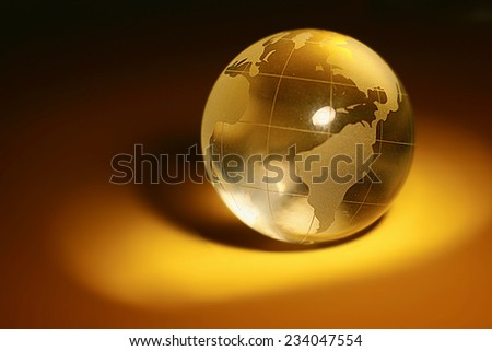 studio shot of the glass globe - stock photo