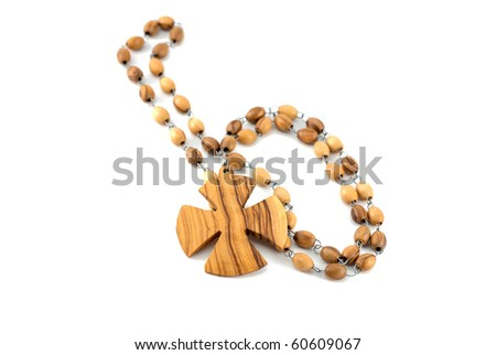 Studio shot of the rosary isolated on white