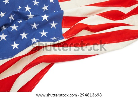 Studio shot of US flag with place for your text - stock photo