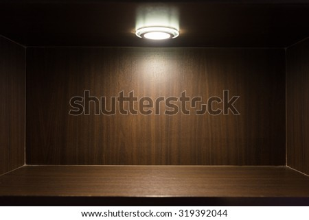 Studio wooden base, background and floor made of wooden planks - stock photo