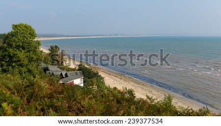Studland coast Dorset England UK located between Swanage and Poole and Bournemouth  - stock photo