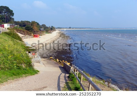 Studland middle beach Dorset England UK located between Swanage and Poole and Bournemouth one of three beaches on this beautiful coast - stock photo