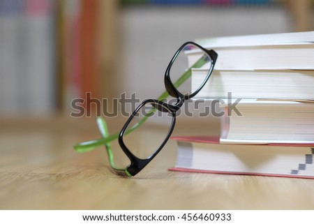 study book glasses
