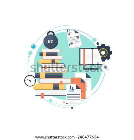 Study flat background. Back to school. books. - stock photo