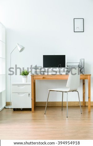 furniture study room. study room with wood flooring and simple light furniture s