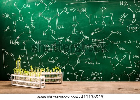 Study the effects of chemicals on plants - stock photo