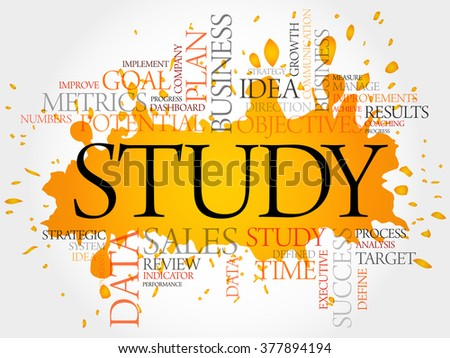 Study word cloud, business concept - stock photo