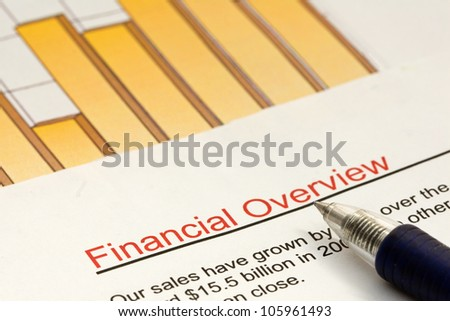 Studying a financial overview of a company with high sales growth.
