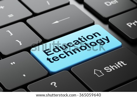 Studying concept: Education Technology on computer keyboard background - stock photo