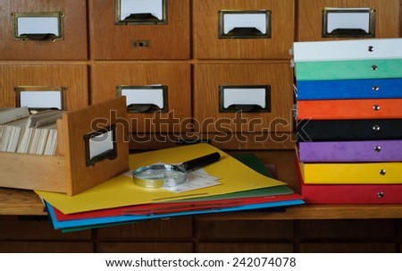 Studying in a Library Search Concept  Stock Photo - stock photo