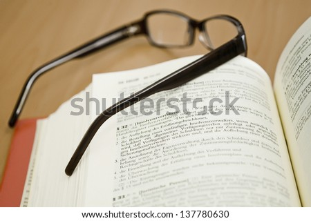 studying law - stock photo