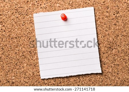 Studying. The phrase Listen and Learn  typed onto a scrap of lined paper and pinned to a cork notice board. This is the key to success in education and learning new skills for the workplace. - stock photo