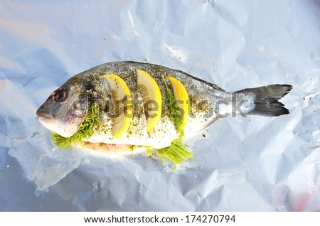 Stuffed fish - stock photo