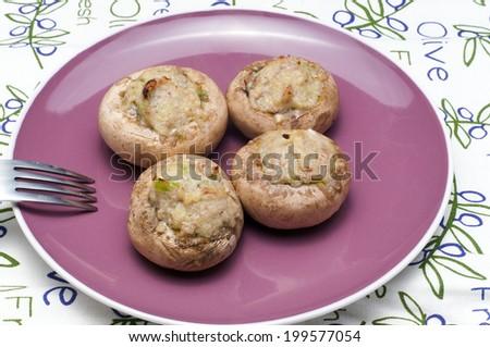 Stuffed mushrooms  - stock photo