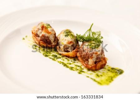 stuffed potatoes - stock photo