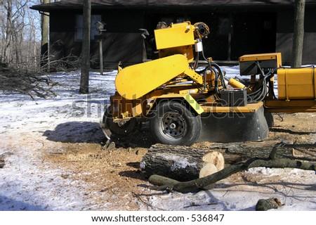 Stump Grinder - stock photo