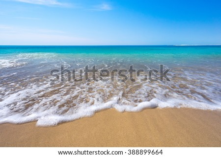 Stunning beach in the middle of summer - stock photo