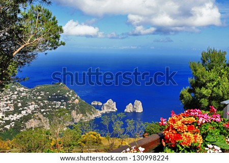 stunning Capri island, bella Italia series - stock photo