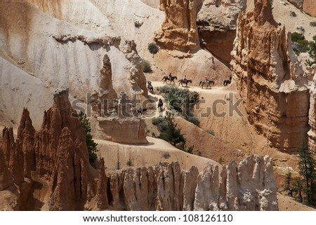 Stunning natural landscape of Bryce Canyon National Park, Utah, USA. - stock photo