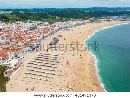 Stunning view from Miradouro do Suberco in Nazare, Portugal