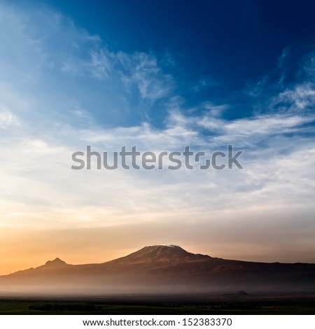 "Stunning view of the Kilimanjaro at sunrise. ""Square Frame"""
