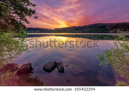Stunning views of Dartmoor National Park, Devon, UK - stock photo