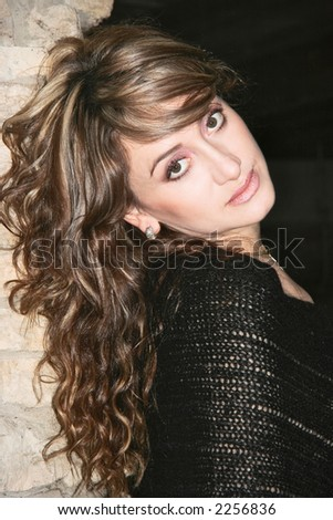 stunning woman - stock photo