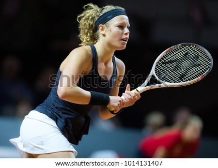 STUTTGART, GERMANY - APRIL 27 : Laura Siegemund at the 2017 Porsche Tennis Grand Prix WTA Premier tournament