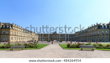 "Stuttgart (Germany) Castle Square with the ""new castle"" in the city center in summer"