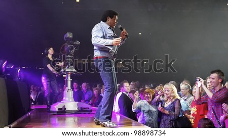 STUTTGART, GERMANY - MARCH 24: Singer Chubby Checke live in concert on stage at the festival March 24, 2012 in Stuttgart, Germany - stock photo