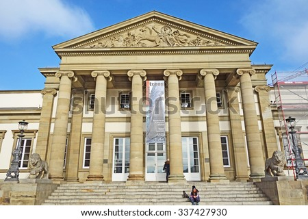 Stuttgart, Germany - November 1, 2015: Schloss Rosenstein (Castle Rosenstein) - museum of natural history
