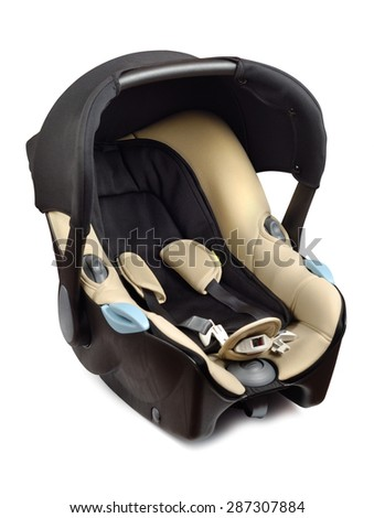 Style and comfortable baby car seat isolated over white background. Clipping path included.