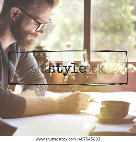 Style Fashionable Trends Hipster Trendy Concept
