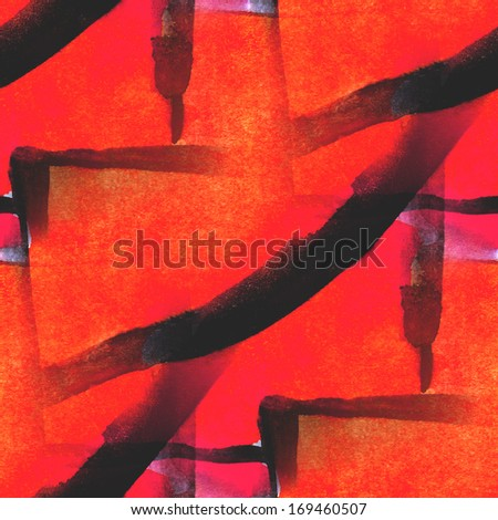 style pattern textured palette picture orange, black frame watercolor seamless background