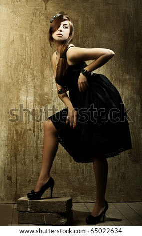 Style photo of a pretty young lady. Art photo