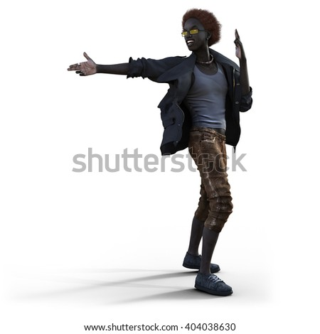Style young man - 3D Illustration and 3D Rendering