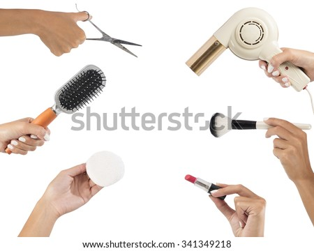 Styling tools for make up and hair