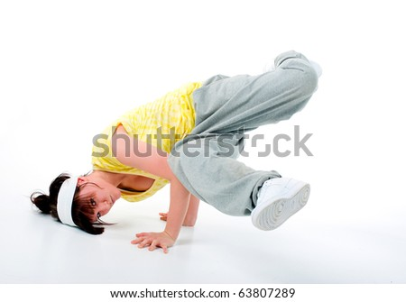 stylish and cool hip hop style dancer posing - stock photo