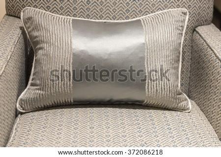 Stylish and Modern Herring Bone Pattern Chair - stock photo