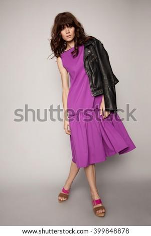 Stylish beautiful woman  - stock photo
