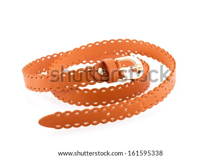 Stylish belt isolated on white background. - stock photo