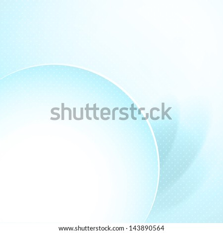 Stylish blue background with round copy space. Raster copy of vector.