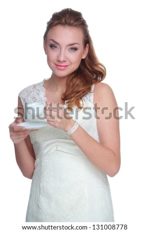 Stylish caucasian young girl - stock photo